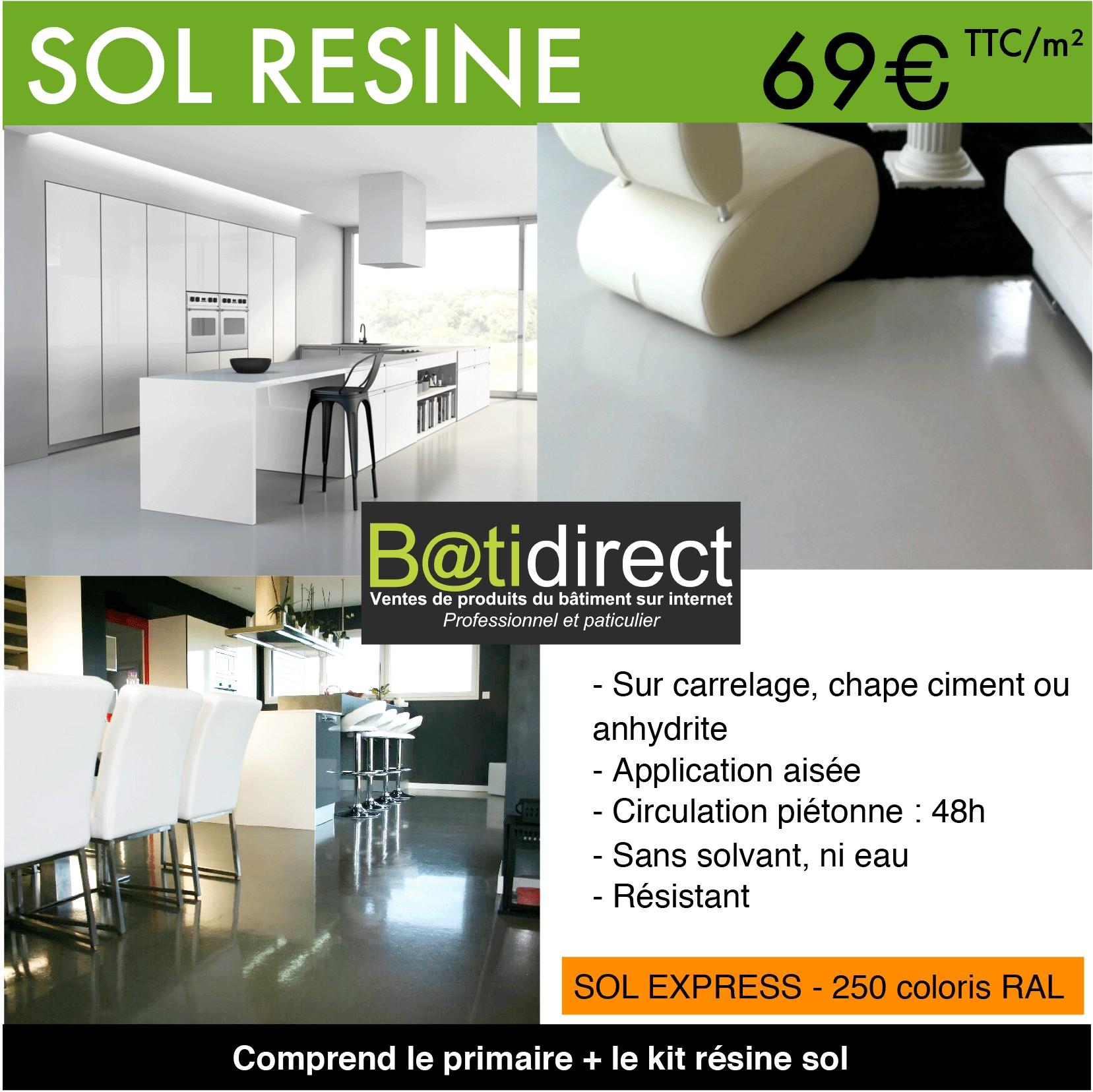 Resine Epoxy Sol Interieur kit résine autolissante pour sol - sol'express - batidirect
